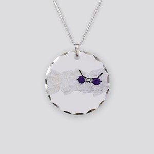 PurpleGlassesJabot111609 Necklace Circle Charm