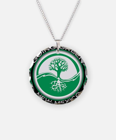 Cool Living green Necklace Circle Charm