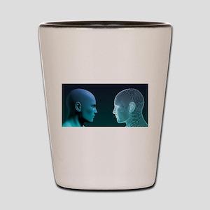 Man vs Machine Competing in Shot Glass