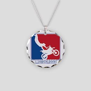 Major League Motocross Necklace Circle Charm