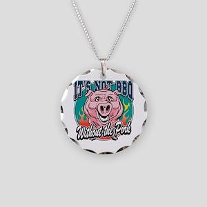 BBQ Pork Necklace Circle Charm