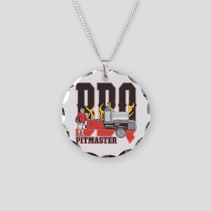 BBQ Pit master Necklace Circle Charm