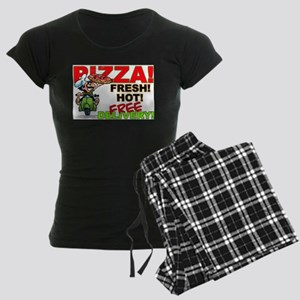 Pizza Sign Women's Dark Pajamas