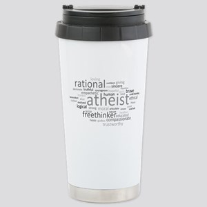 Atheism Cloud Stainless Steel Travel Mug