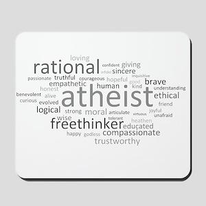 Atheism Cloud Mousepad