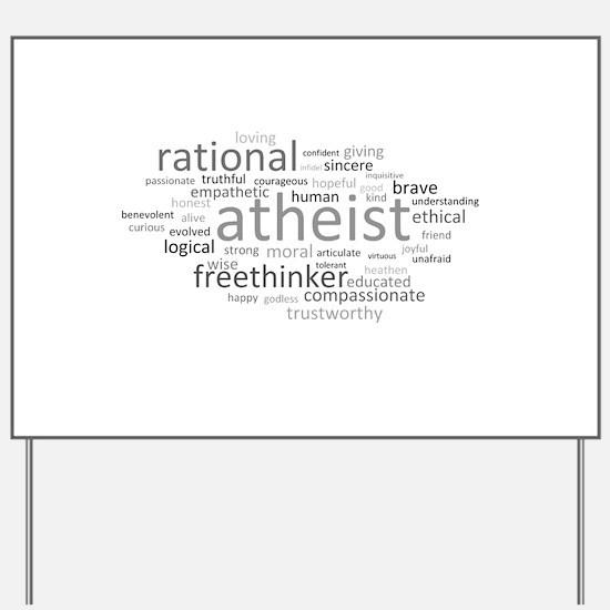 Atheism Cloud Yard Sign