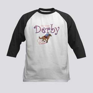 My First Derby (girl) Kids Baseball Jersey