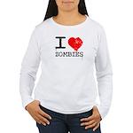 I Heart Zombies Women's Long Sleeve T-Shirt