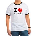 I Heart Zombies Ringer T