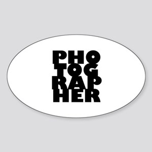 photographer (black) Sticker (Oval)