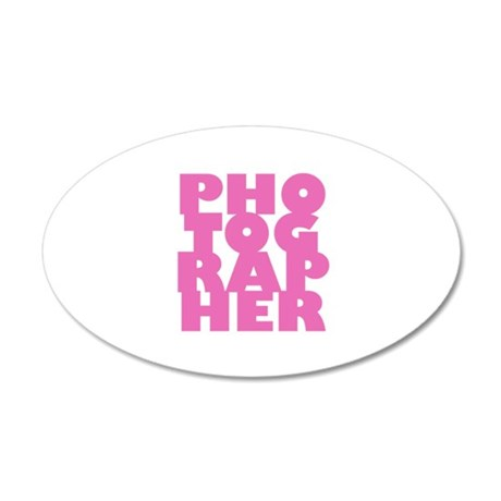 photographer (pink) 38.5 x 24.5 Oval Wall Peel