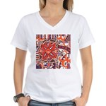 Poinsettia Power Women's V-Neck T-Shirt