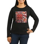 Poinsettia Power Women's Long Sleeve Dark T-Shirt