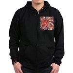 Poinsettia Power Zip Hoodie (dark)