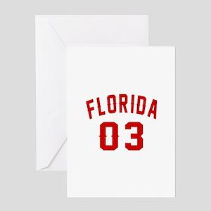 Florida 03 Birthday Designs Greeting Card