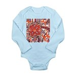 Poinsettia Power Long Sleeve Infant Bodysuit