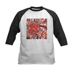Poinsettia Power Kids Baseball Jersey