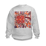 Poinsettia Power Kids Sweatshirt