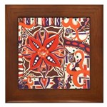 Poinsettia Power Framed Tile