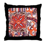 Poinsettia Power Throw Pillow