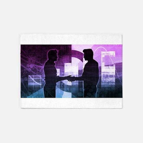 Business Training 5'x7'Area Rug