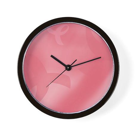 Breast Cancer Ribbons Wall Clock