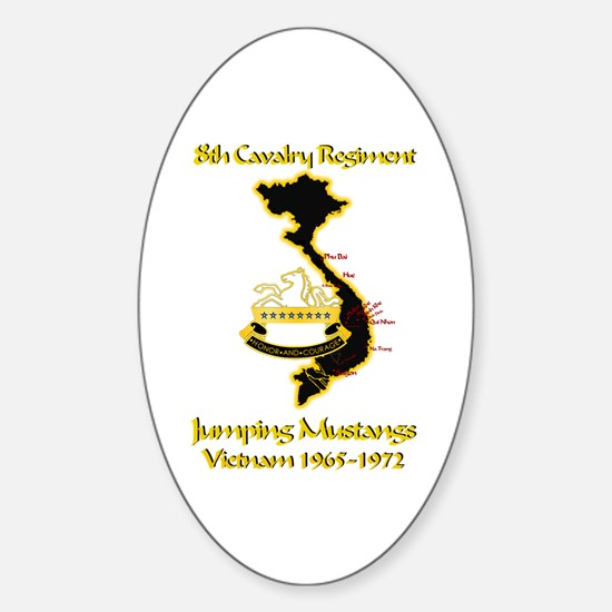 8th Cavalry Regiment Oval Decal