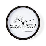Bun 2 Hippity Wall Clock