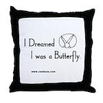 Bun 23 Butterfly Throw Pillow