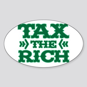 TAX THE RICH Sticker (Oval)