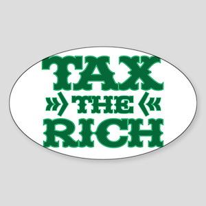 TAX THE RICH Sticker (Oval)