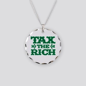 TAX THE RICH Necklace Circle Charm