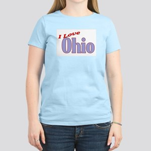 I Love Ohio Women's Pink T-Shirt