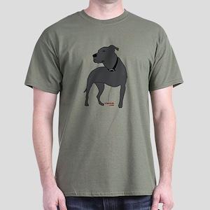Tripawds Front Leg Pit Bull Dark T-Shirt
