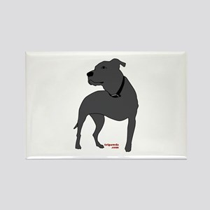Tripawds Front Leg Pit Bull Rectangle Magnet