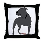Tripawds Front Leg Pit Bull Throw Pillow