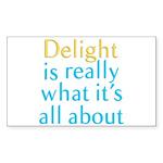 Delight Sticker (Rectangle)