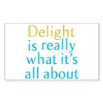 Delight Sticker (Rectangle)