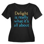 Delight Women's Plus Size Scoop Neck Dark T-Shirt