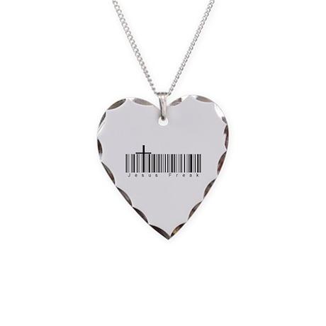 Bar Code Jesus Freak Necklace Heart Charm