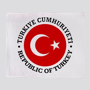 Turkey (rd) Throw Blanket