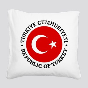 Turkey (rd) Square Canvas Pillow