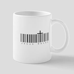 Bar Code Jesus Saves Mug