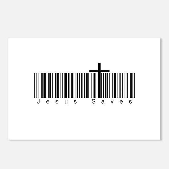 Bar Code Jesus Saves Postcards (Package of 8)