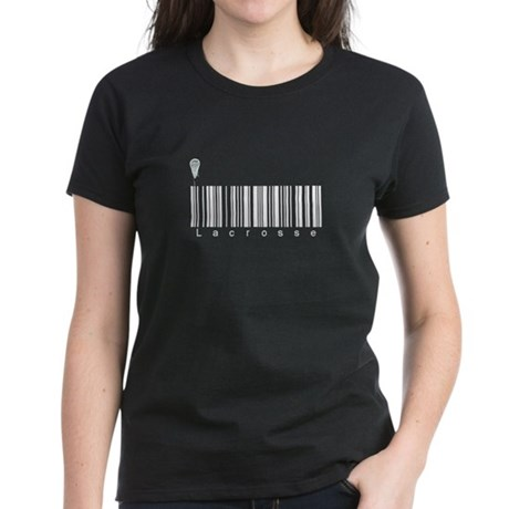 Bar Code Lacrosse Women's Dark T-Shirt