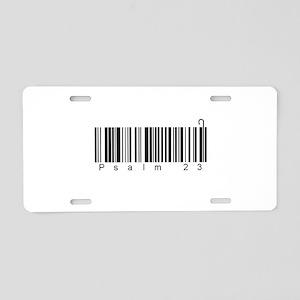 Bar Code Psalm 23 Aluminum License Plate
