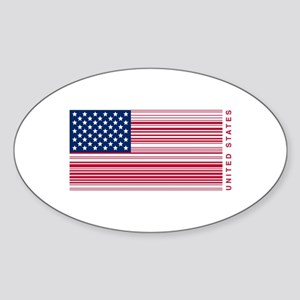 United States of UPC Sticker (Oval)