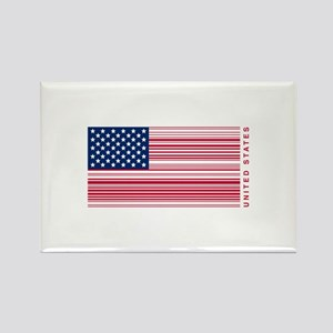 United States of UPC Rectangle Magnet