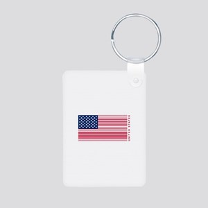 United States of UPC Aluminum Photo Keychain