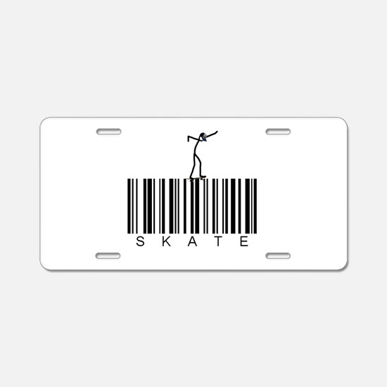 Bar Code Skate Aluminum License Plate